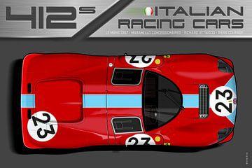 Ferrari 412 Nr.23 van Theodor Decker
