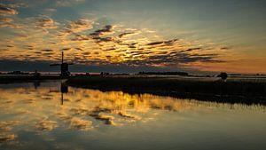 Wolken in de rivier