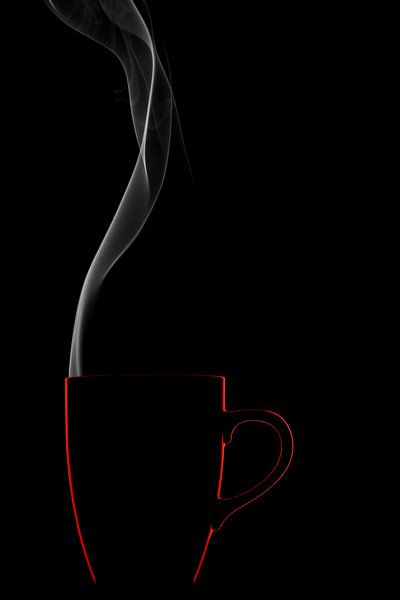 serie Simply Red, titel Rook (rode koffiekop) sur Kristian Hoekman