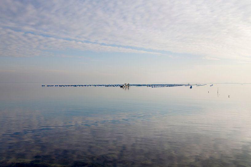 Spiegelend water bij de Brouwersdam von Rene  den Engelsman