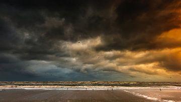 Storm op de Noordzee von Jenco van Zalk