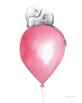 Baby Elephant Love II, Aimee Del Valle van Wild Apple