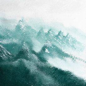 Abstract berglandschap van Joske Kempink