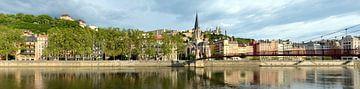 Lyon Quai Fulchiron Panorama van