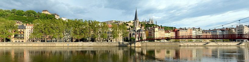 Lyon Quai Fulchiron Panorama van Panorama Streetline