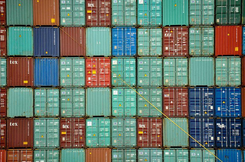 Container puzzel van Frank Hensen