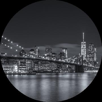New York Skyline - Brooklyn Bridge (6) van Tux Photography