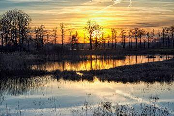 Winterlicher Sonnenuntergang an der Empese und der Tondense Heide von Cor de Hamer
