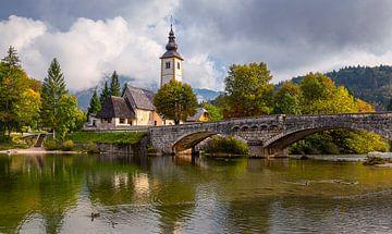 Kirche am Bohinjer See, Slowenien von Adelheid Smitt