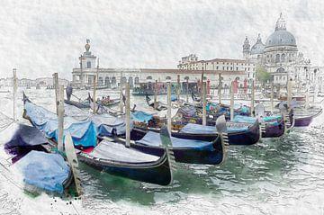 Venetië gondels van F.M. Dekker