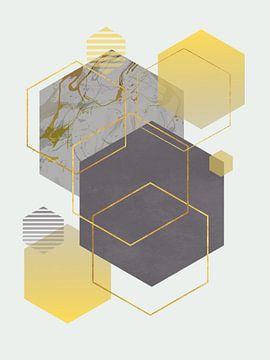 Abstracte samenstelling 1042 van Angel Estevez