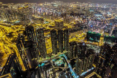 Hong Kong van bovenaf von Roy Poots