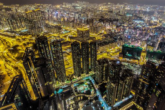 Hong Kong van bovenaf