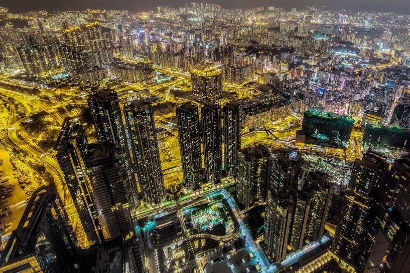 Hong Kong van bovenaf van Roy Poots
