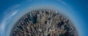 180graden blik over Upper Manhattan van Toon van den Einde