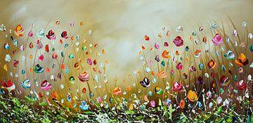 Colorful Flowwers van Gena Theheartofart