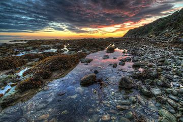 Zonsondergang in Schotland sur