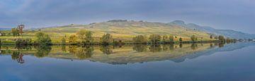 panorama van eiland refelcterend in het water van Patrick Verhoef