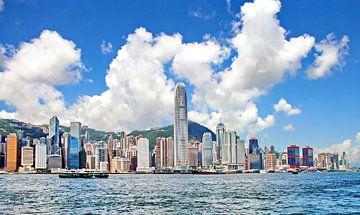 Skyline Hong Kong van Eduard Lamping