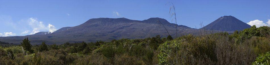 Actieve vulkaan - Tongariro Nieuw Zeeland
