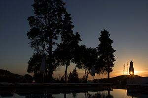Zonsondergang in de Algarve, Portugal van
