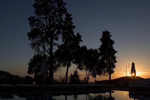 Zonsondergang in de Algarve, Portugal