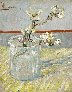 Vincent van Gogh. Bloeiende amandeltak in een glas