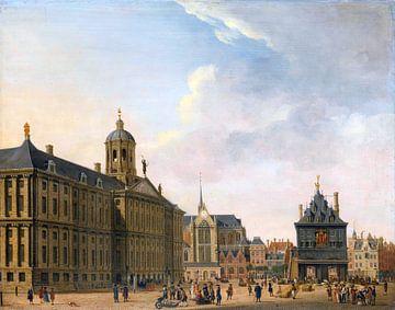 Dammplatz in Amsterdam, Jan Ekels, 1750 -1780