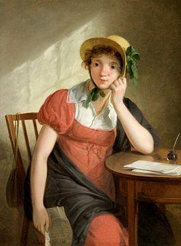 Mädchen mit Brief, Adriaan de Lelie