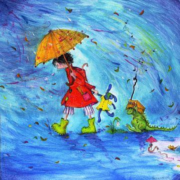 Regendusche - Noore mit Drachen von keanne van de Kreeke