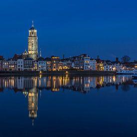 Deventer Skyline met Lebuïnuskerk in de avond - 5 van Tux Photography