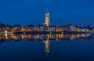 Deventer Skyline met Lebuïnuskerk in de avond - 5