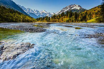 Stillachtal dichtbij Oberstdorf, Allgäuer Alpen van