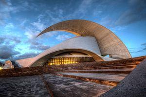 The auditorium de Tenerife by night...