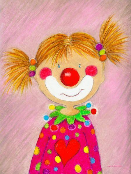 CLOWN MEISJE PEPINA - Kunst voor Kinderen van Atelier BuntePunkt