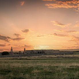 Les ruines dans les hautes terres de Thurso Est sur Mart Houtman