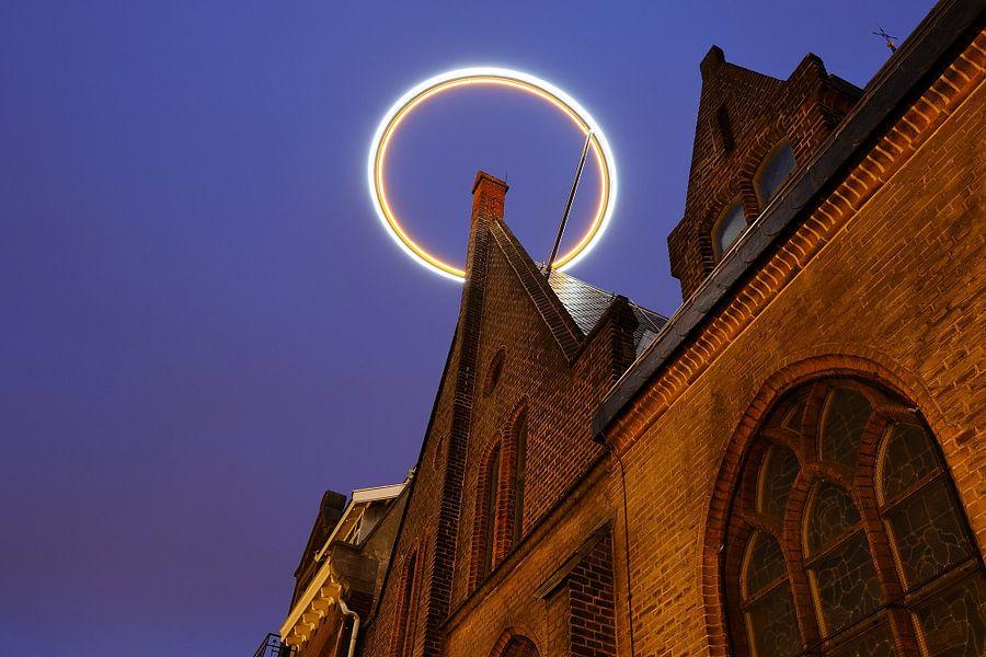 Sint-Willibrordkerk in Utrecht met halo