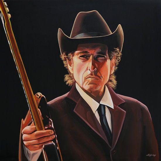 Bob Dylan schilderij 2 van Paul Meijering