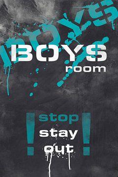 BOYS ROOM | turquoise van Melanie Viola