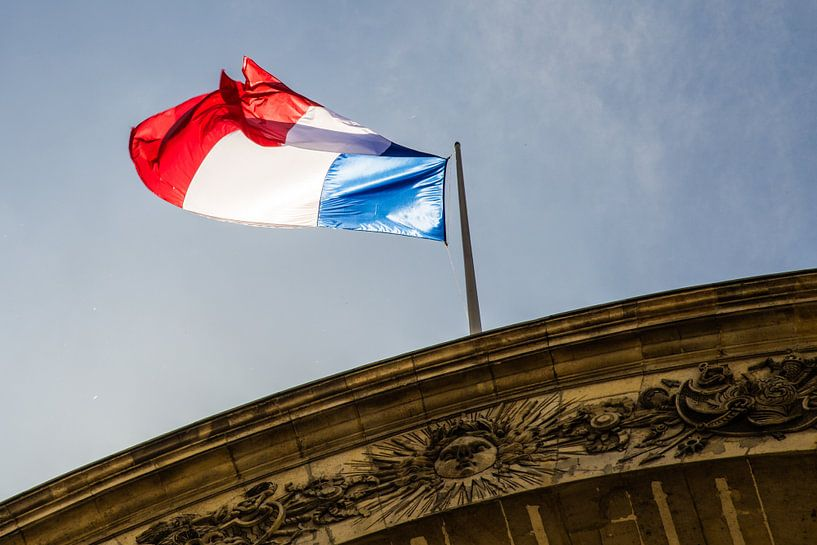 Franse vlag van Melvin Erné