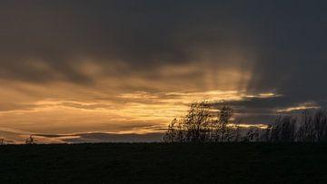 Sonnenuntergang am Deich van Rolf Pötsch