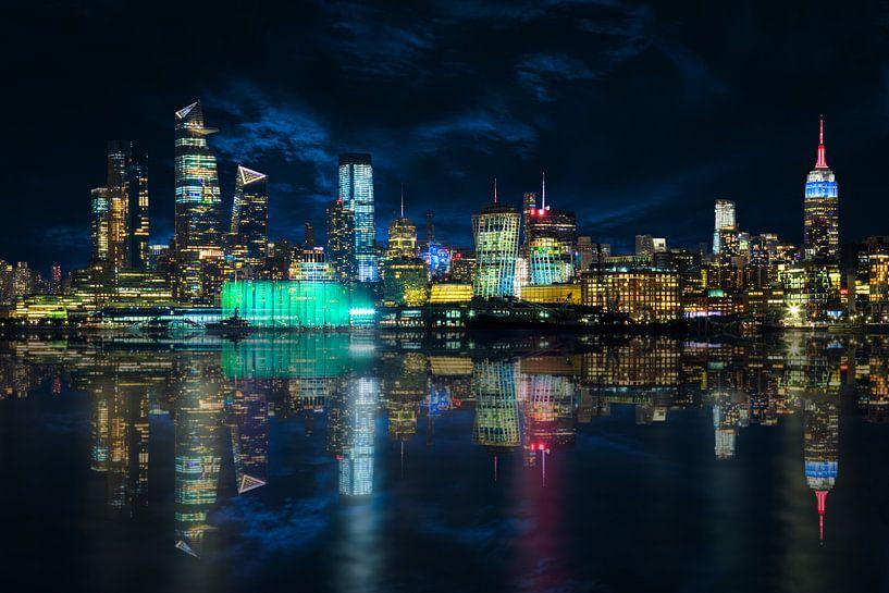 Skyline Manhattan de Hoboken sur Jan van Dasler