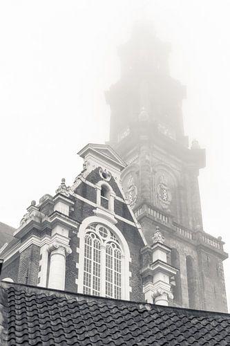Westertoren Amsterdam in de Mist van