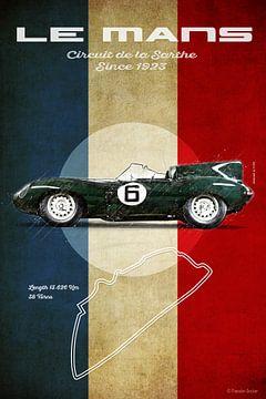 Le Mans Vintage D-Type von Theodor Decker