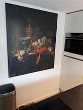 Klantfoto: Stilleven met een gouden bokaal, Pieter de Ring, op canvas