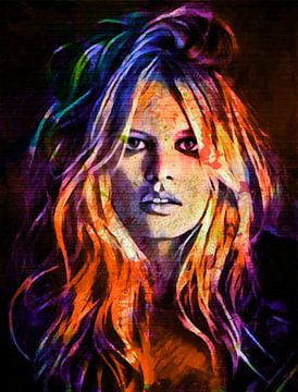 Brigitte Bardot Colourful Vamp Part 2 van Felix von Altersheim