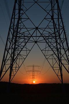 Energie zonsopkomst Almere. van Marcel Huisman