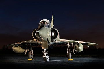Dassault Mirage 5 bij nacht van Kris Christiaens
