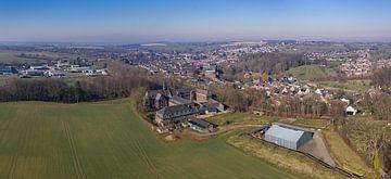 Vue aérienne de la municipalité de Simpelveld dans le sud du Limbourg