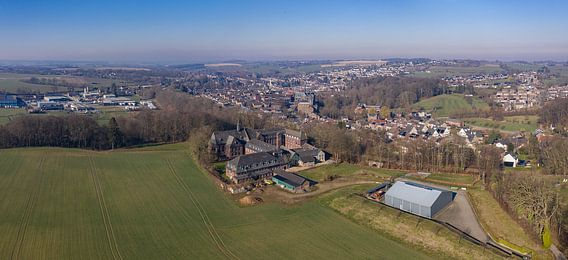 Luchtopname van Gemeente Simpelveld in Zuid-Limburg
